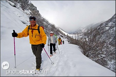 Snow-shoe expedition to the Zinal Glacier, Switzerland