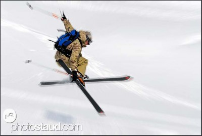 Free-rider in Murren, Swiss Alps, Switzerland