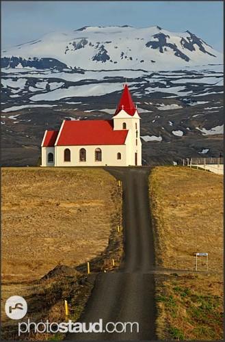 Cesta do nebe, poloostrov Snaefellsnes, Island
