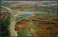 Aerial photograph of South Luangwa National Park landscape, Zambia