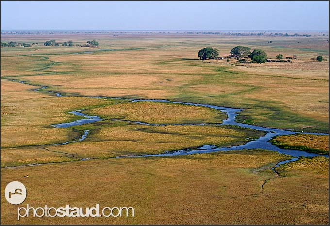 Shumba Camp of the Wilderness Safaris in the plains of Kafue National Park, Zambia