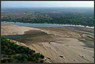 Aerial photograph of South Luangwa National Park, Zambia