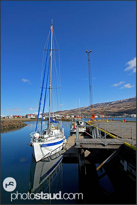 Ship in Akureyri port, Iceland