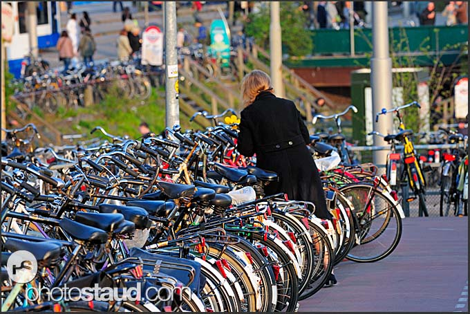 Bicycles parking at Central Station, Amsterdam, Holland, The Netherlands, Europe