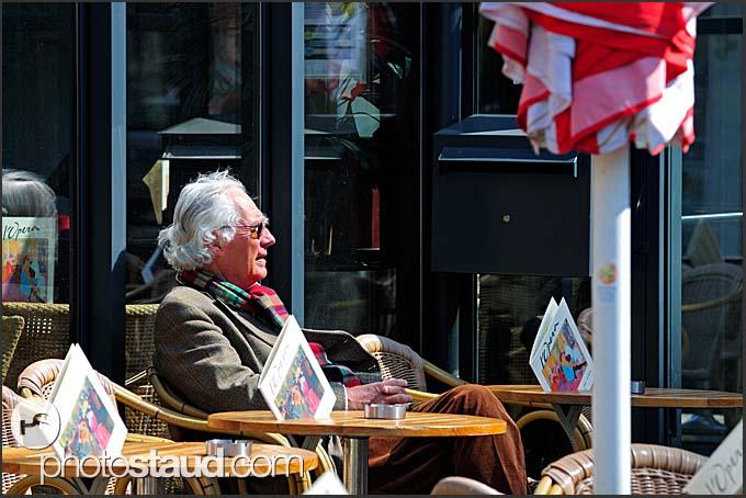 Street restaurant in Amsterdam, Holland, The Netherlands, Europe