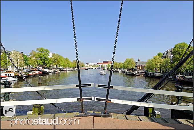 Skinny Bridge, Amsterdam, Holland, The Netherlands, Europe