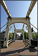 Skinny Bridge, Amsterdam, Holland, The Netherlands, Europe