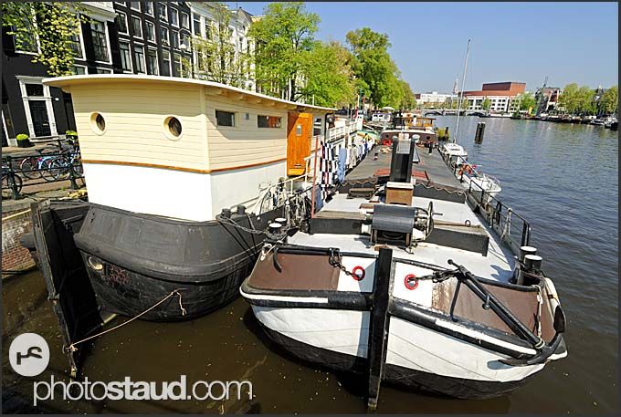 Amsterdam canals, Holland, The Netherlands, Europe