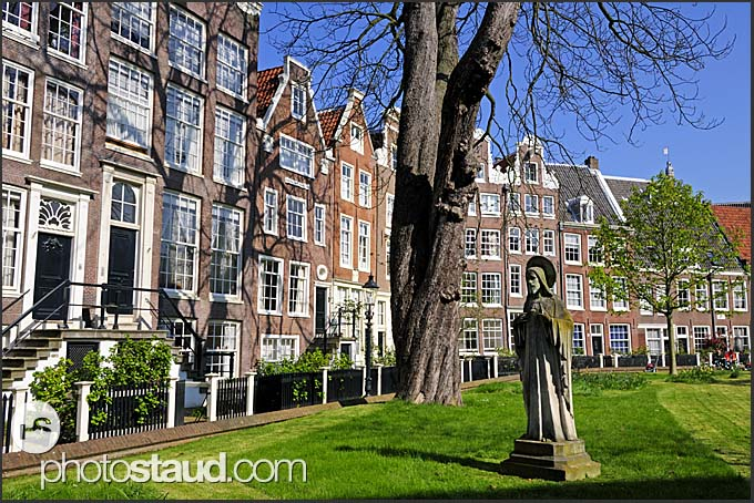 Quiet residential area in Amsterdam, Holland, The Netherlands, Europe
