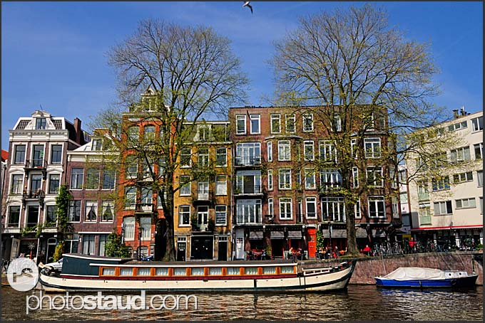 Canals of Amsterdam, Holland, The Netherlands, Europe