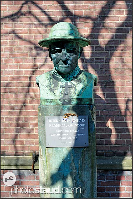 Statue of Kardinaal Van Rossum, Amsterdam, Holland, The Netherlands, Europe