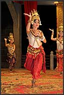 Beautiful Khmer traditional Apsara dancer in Siem Reap, Cambodia