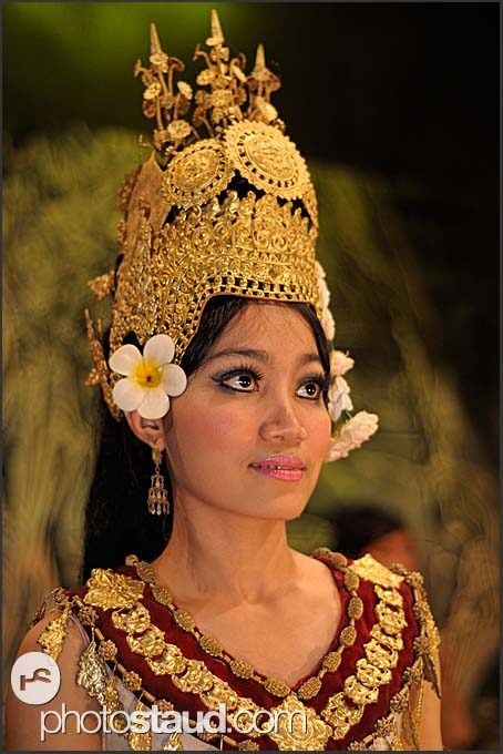 Beautiful female Apsara dancer, Cambodia