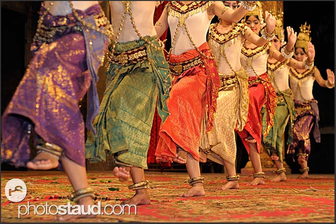 Traditional Apsara dancing in the Kulen restaurant, Siem Reap, Cambodia