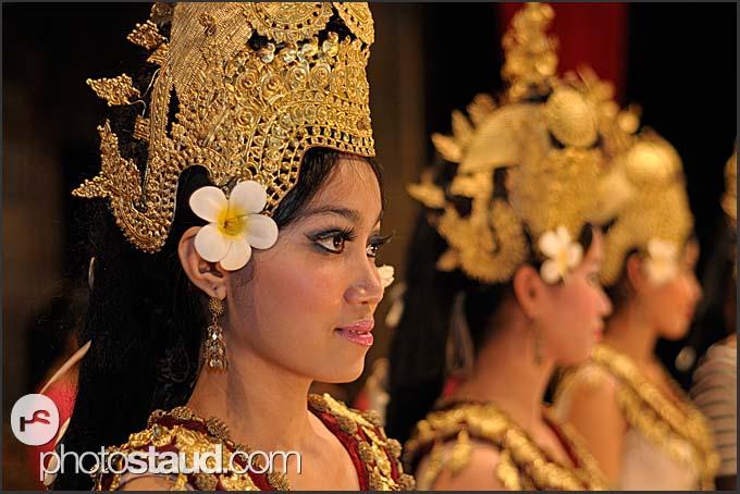 Portrait of female Apsara dancer, Cambodia