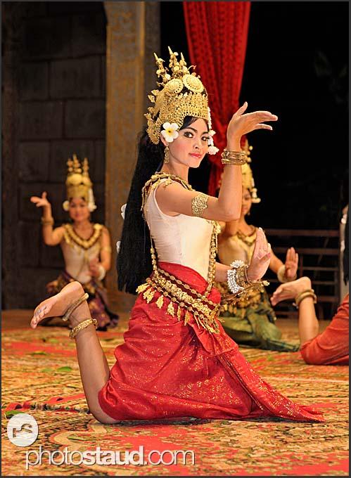 Beautiful Apsara dancer performing traditional Khmer dances, Siem Reap, Cambodia