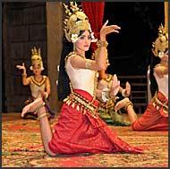 Performing traditional Khmer dancing, Apsara, Siem Reap, Cambodia