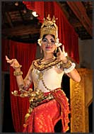 Performing traditional Khmer dancing, Apsara, Siem Reap, Cambodia