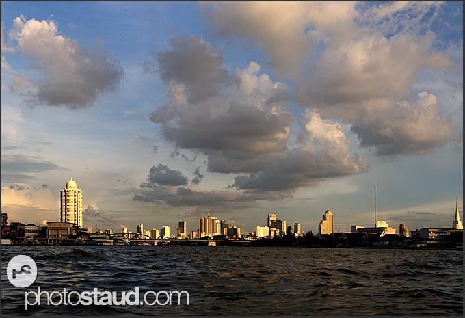 Bangkok cityscape across the Chao Phraya River, Thailand