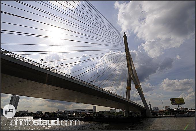 Bridge across the Chao Phraya River, Bangkok, Thailand