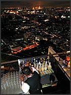 Rooftop bar above Bangkok, Thailand