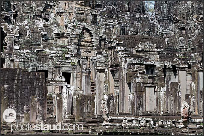 Stone labyrinths of Bayon Temple, Angkor Thom, Cambodia
