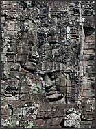 Detail of bas relief at the Bayon Temple showing Khmer warriors, Angkor Thom, Cambodia
