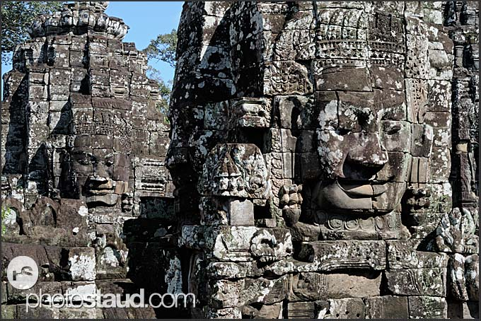 Prasat with the faces of Lokeshvara, Bayon Temple, Angkor Thom, Cambodia