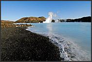 Volcanic landscape surrounding Blue Lagoon, Iceland