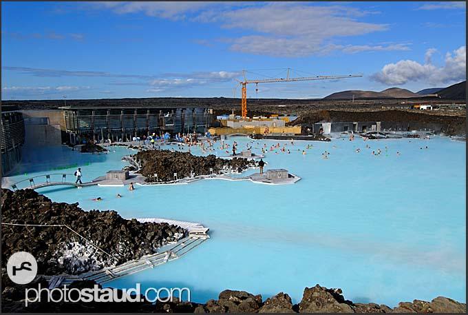 construction works on blue lagoon iceland blue lagoon iceland