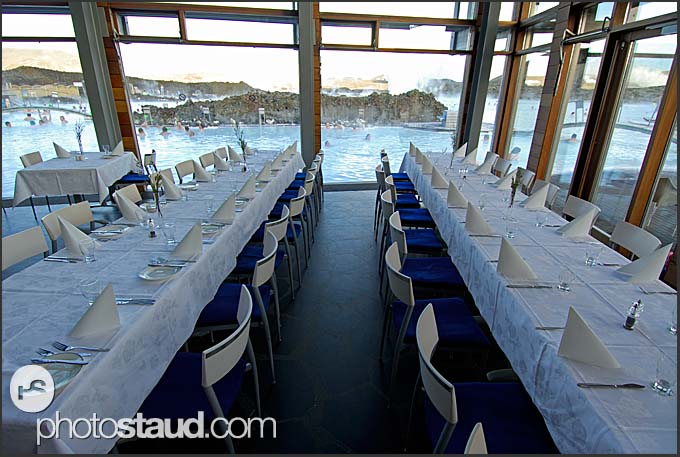 Restaurant with a view to Blue Lagoon, Iceland