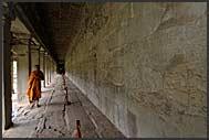 Nun in Angkor Wat, Cambodia