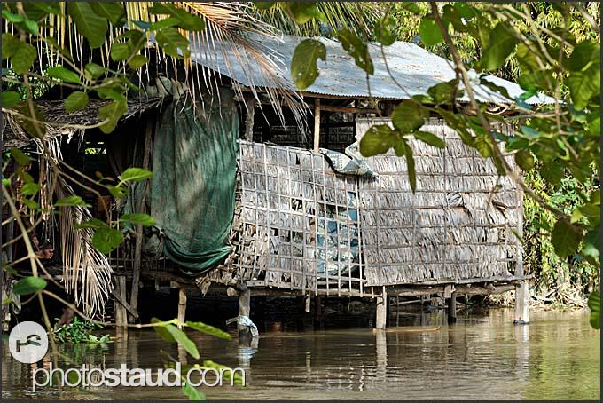 Flooded village, Cambodia