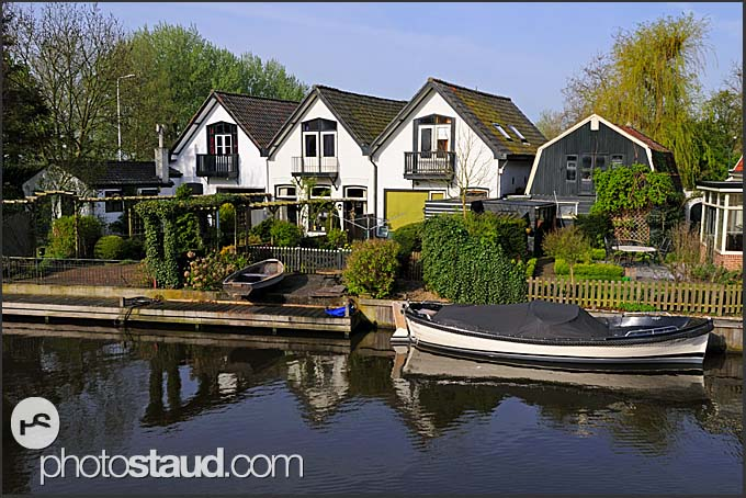 Houses along Dutch canals, Holland, Europe