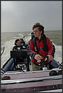 Harro van Dalen riding tourists on yacht charter, Holland, Europe