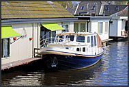 Houseboats along Dutch canals, Holland, Europe