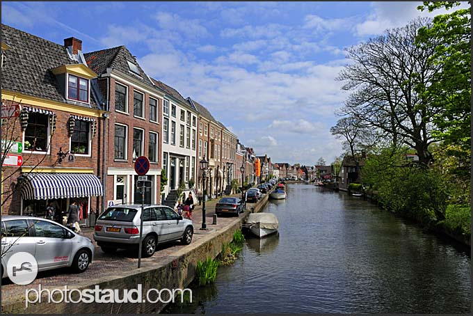 Canal in Muiden, Holland, Europe