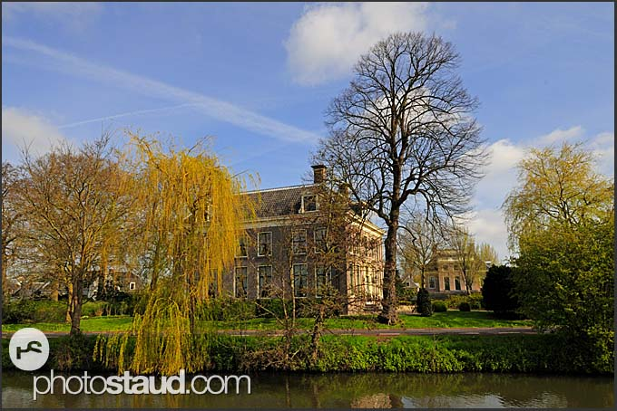 Luxury mansions along Dutch canals, Holland, Europe
