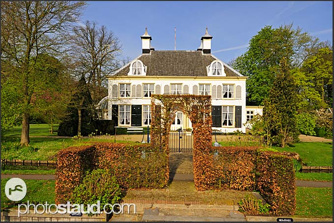 Luxury mansion along Dutch canals, Holland, Europe