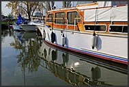 Yacht in Dutch marina, Holland, Europe