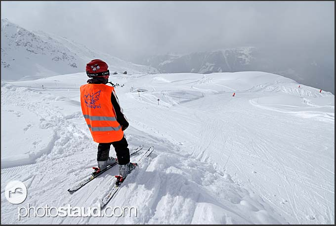 Ski school at Chandolin, Switzerland, Europe