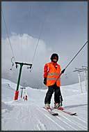 Sledging in Chandolin, Switzerland, Europe