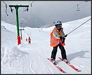 Ski school at Chandolin, Switzerland, Europe