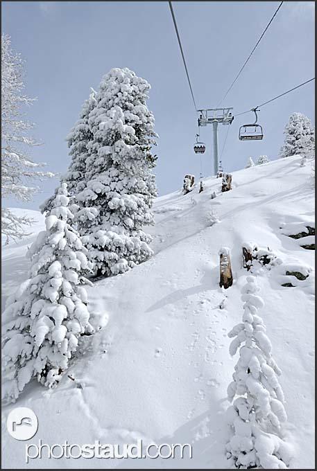 Ski resort at Chandolin, Switzerland, Europe