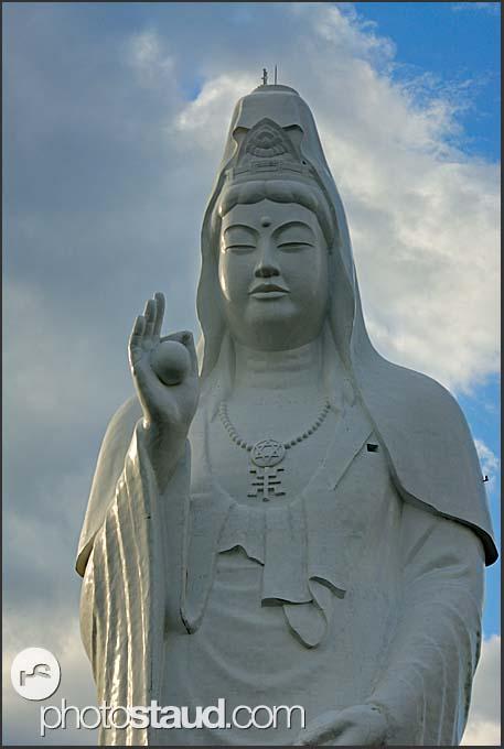 Gigantic Buddhist statue of the bodhisattva Dai-Kannon, Sendai, Japan