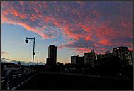 Cityscape of Sendai at night, Japan