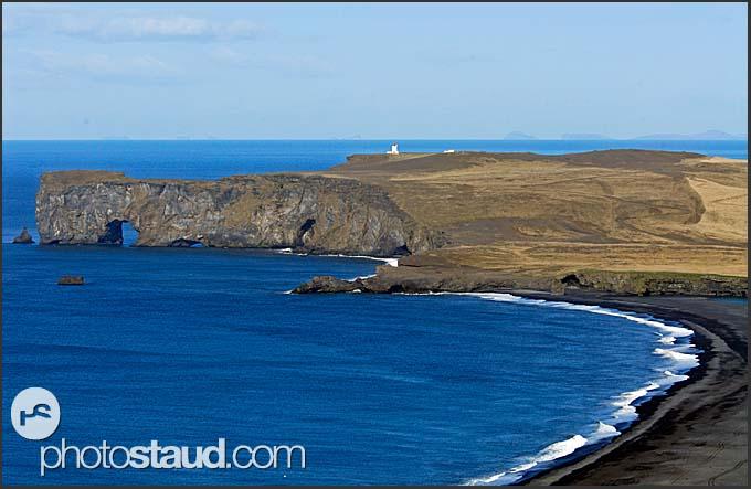 Landscape of the south coast near Dyrholaey, Iceland