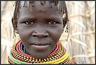 Elderly El Molo woman, Lake Turkana, Northern Kenya