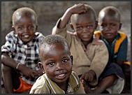 El Molo children in village local school, Lake Turkana, Northern Kenya