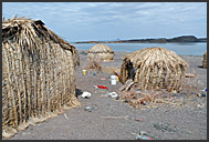 El Molo people in their village on the shore of Lake Turkana, Northern Kenya